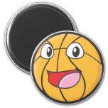 Happy Basketball Magnet