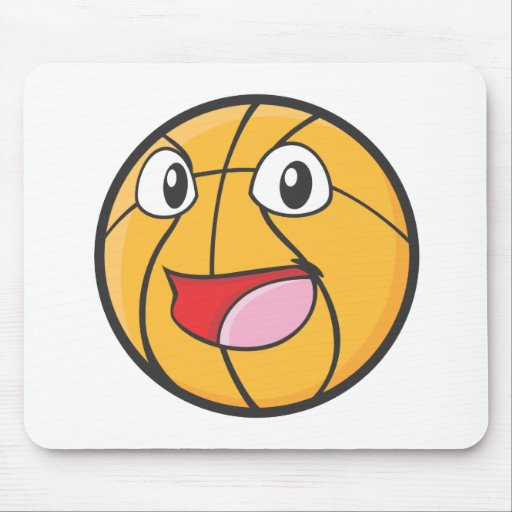 Happy Basketball Mouse Pad