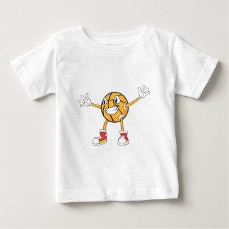 Happy Basketball Player in a Defense Position Baby T-Shirt