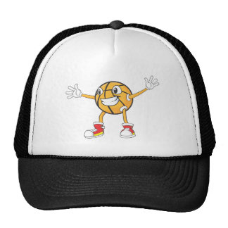 Happy Basketball Player in a Defense Position Trucker Hat