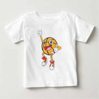 Happy Basketball Player Jumping Baby T-Shirt