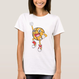 Happy Basketball Player Jumping T-Shirt