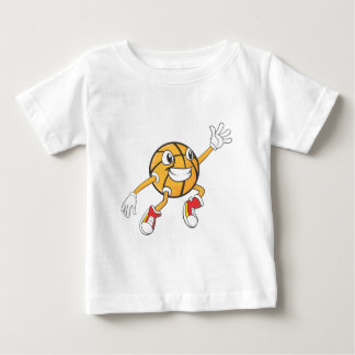 Happy Basketball Player Making a Block Baby T-Shirt