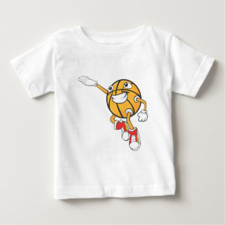 Happy Basketball Player Making a Layup Baby T-Shirt