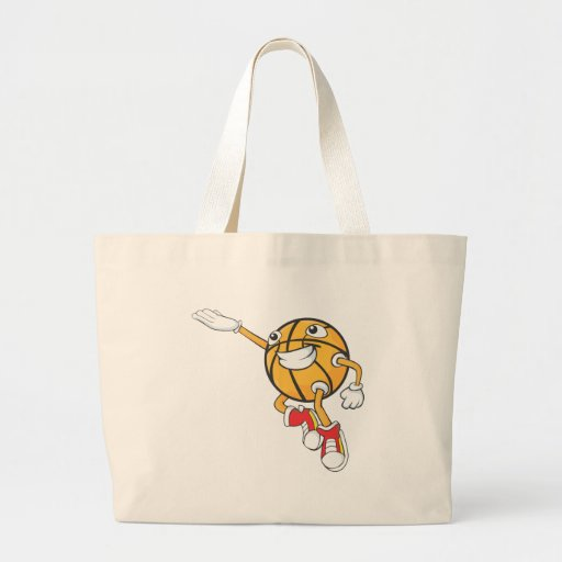 Happy Basketball Player Making a Layup Tote Bags