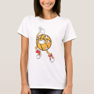 Happy Basketball Player Making a Shot T-Shirt