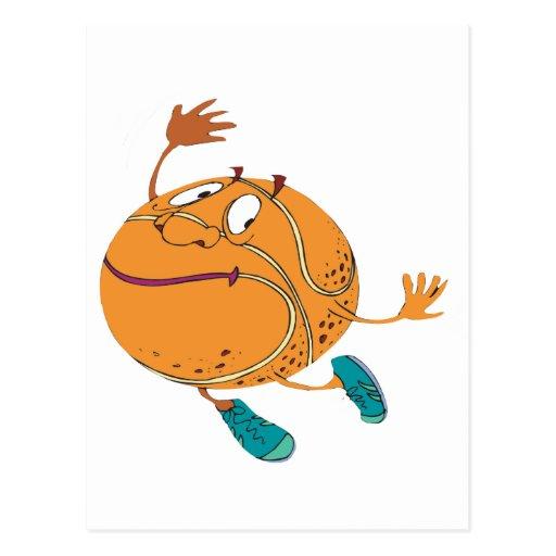 Happy-Basketball Postcard