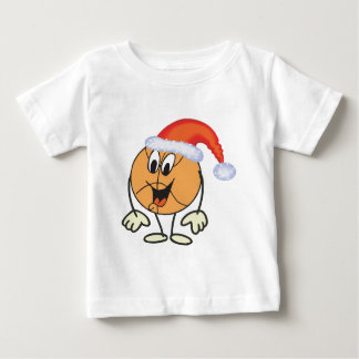 Happy basketball smiley  wearing a santa hat baby T-Shirt