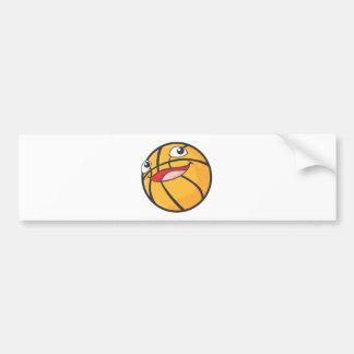 Happy Basketball Sports Ball Smiling Bumper Sticker