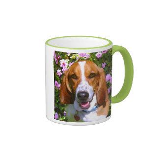 Happy Basset Hound Coffee Mugs