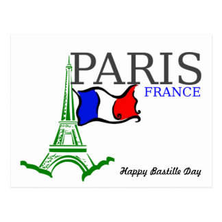 Happy Bastille Day France Postcard