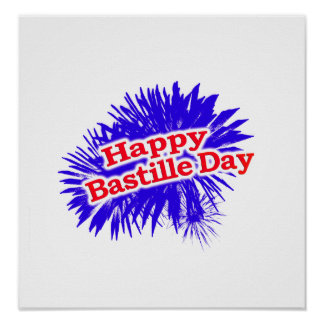 Happy Bastille Day Graphic Poster