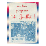 Happy Bastille Day Postcard