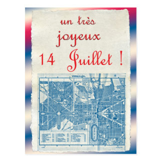 Happy Bastille Day Postcard