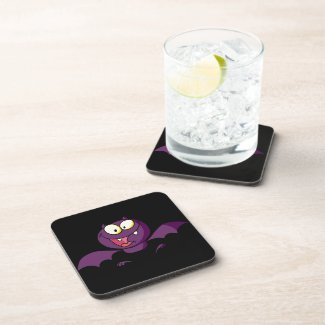 Happy Bat Flying Beverage Coasters