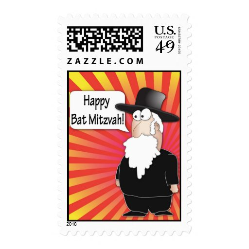 Happy Bat Mitzvahs Postage stamps