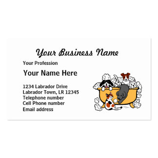 Happy Bath Time Pet Salon Double-Sided Standard Business Cards (Pack Of 100)