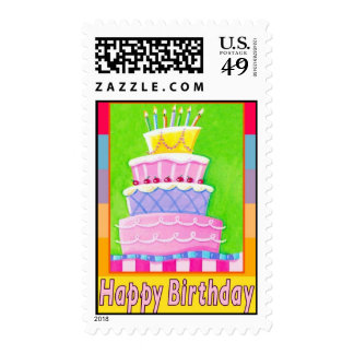 Happy Bday postage stamps