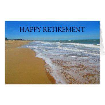 Beach Themed happy beach retirement card