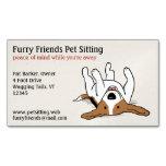 Happy Beagle | Cute Cartoon Dog Magnetic Business Card
