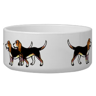 Happy Beagle Dog Food Bowl