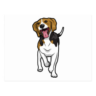 Happy Beagle Postcards