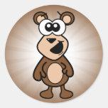 Happy Bear Classic Round Sticker