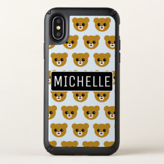 Happy Bear Personalized Speck iPhone X Case