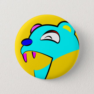 Happy Bear Pinback Button