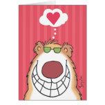 HAPPY BEAR Valentines by Boynton Greeting Card