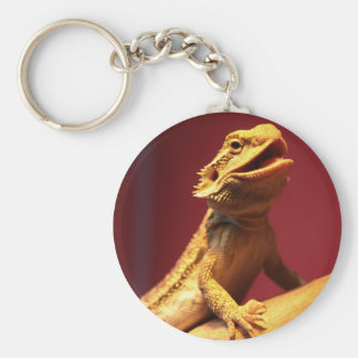 Happy Bearded Dragon Keychain