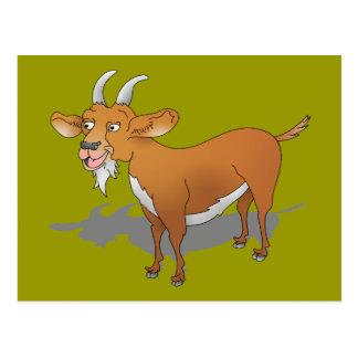 Happy bearded goat postcard