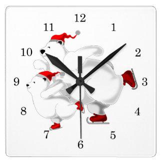 Happy Bears Square Wall Clock
