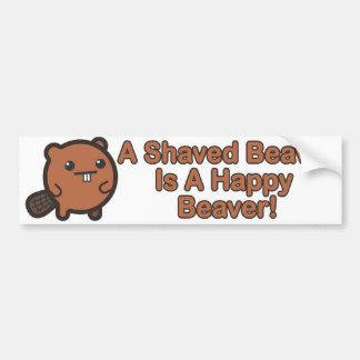 Happy Beaver Car Bumper Sticker
