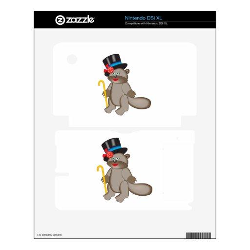Happy beaver cartoon decals for DSi XL