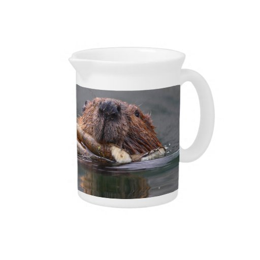 Happy Beaver Drink Pitcher
