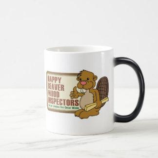 Happy Beaver Drinkware 2 11 Oz Magic Heat Color-Changing Coffee Mug