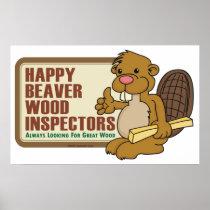 Happy Beaver Poster