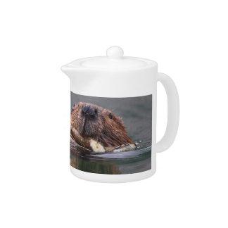 Happy Beaver Teapot