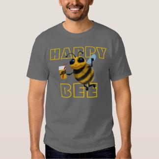 Happy Bee 3d Bee drinking T-shirt