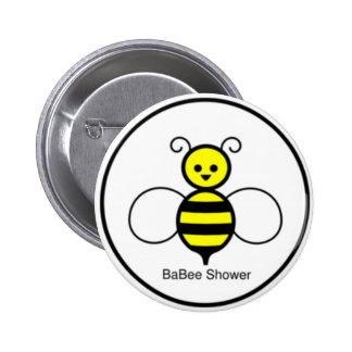 Happy Bee Baby Shower Pinback Button