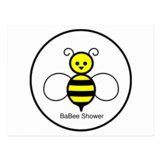 Happy Bee Baby Shower Postcard