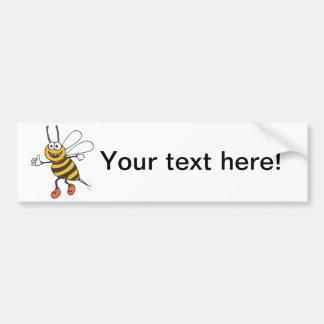 Happy bee cartoon bumper stickers