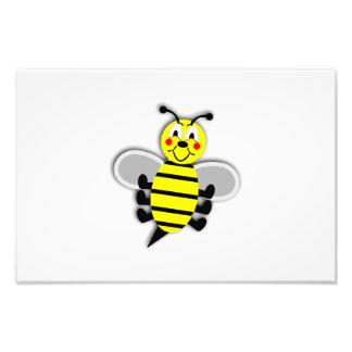 Happy bee cartoon photo