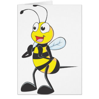 Happy Bee Clapping Card