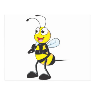 Happy Bee Clapping Postcard
