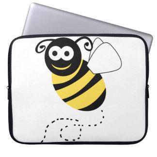 Happy Bee Clipart Laptop Sleeve
