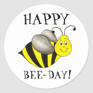 Happy Bee Day Bday Bumblebee Birthday Stickers