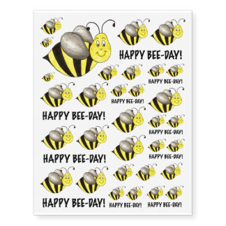 Happy Bee Day Bumblebee Bees Birthday Tattoos