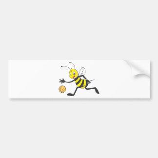 Happy Bee Dribbling Bumper Sticker